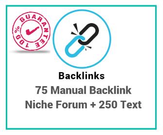 Buy 75 Manual Backlinks Forum Niche Link Building