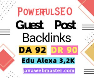 Buy High DA 92 Alexa 810 USA Backlinks EDU
