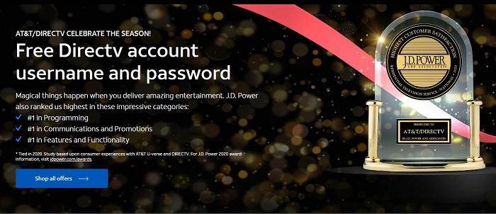 free directv account username and password
